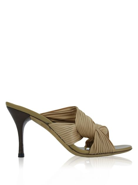Mule Gucci Pleated Bege