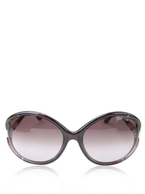 Óculos Tom Ford Acetato Roxo Sandrine