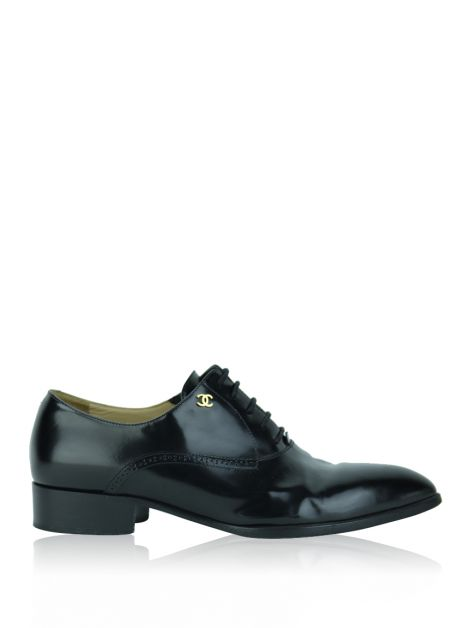 Oxford Chanel Pointed Preto
