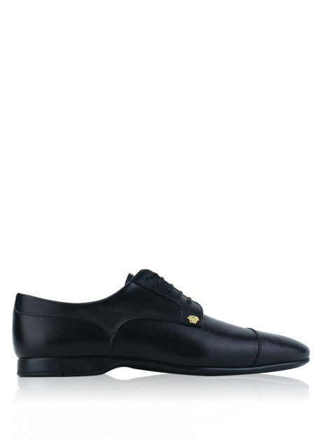 Oxford Versace Medusa Lace-Up Preto
