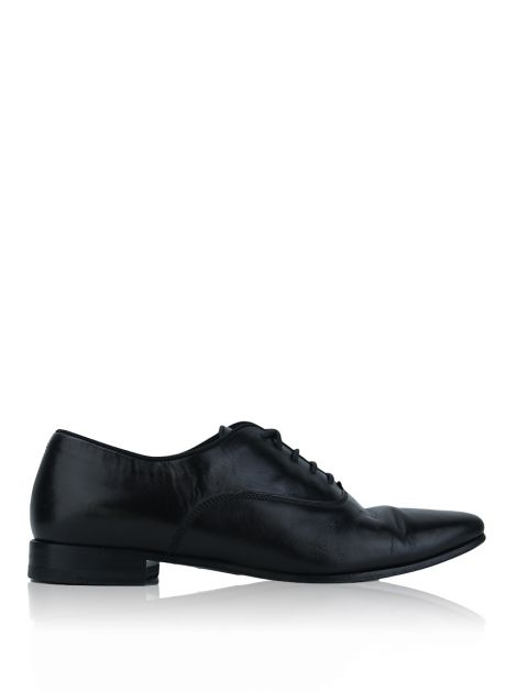 Oxford Yves Saint Laurent Couro Preto