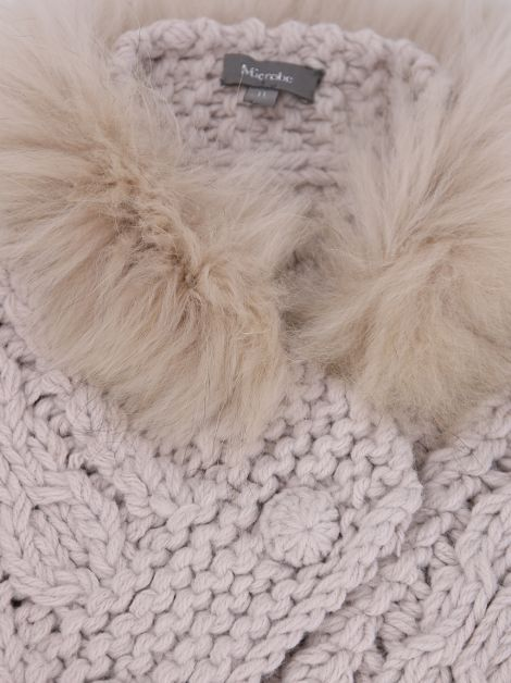Poncho Microbe By Miss Grandt Tricot Rosé Toddler