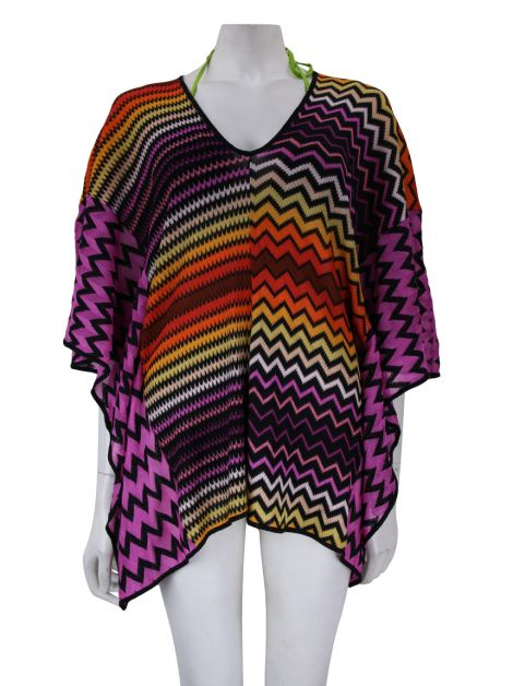 Poncho Missoni Knit Chevron