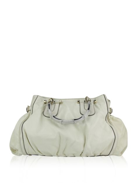 Bolsa Gucci Pop Bamboo Large Off-White