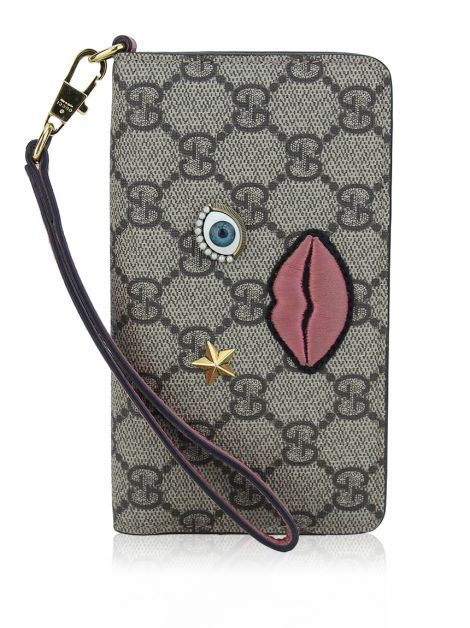 Porta Iphone 6 Gucci Embroidered Face