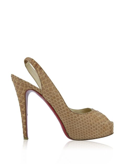 Sapato Christian Louboutin Private Number Phyton