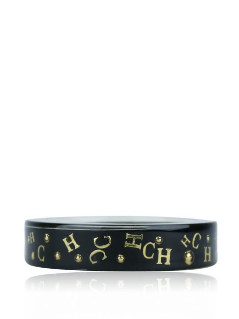 Pulseira Carolina Herrera Bangle Preto