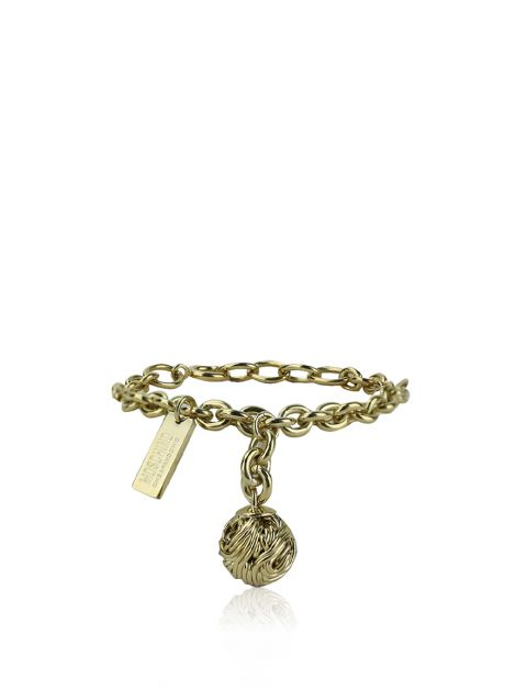 Pulseira Moschino Cheap and Chic Knit Ball Dourada