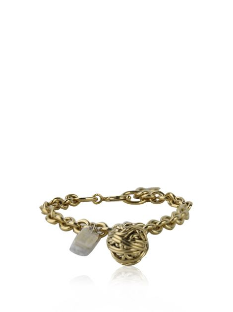 Pulseira Moschino Cheap and Chic Knit Ball Dourado