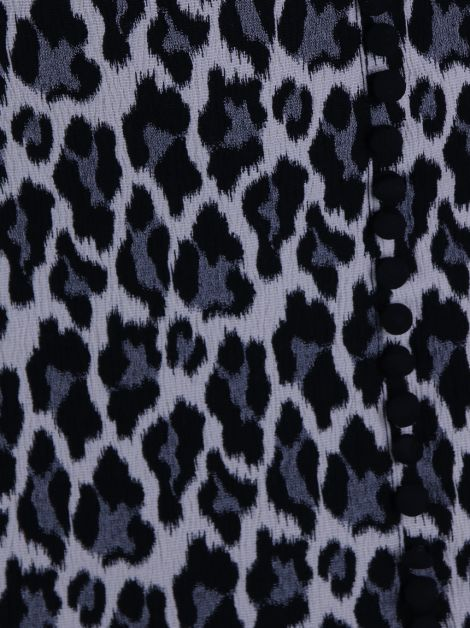 Saia Mixed Leopardo Cinza