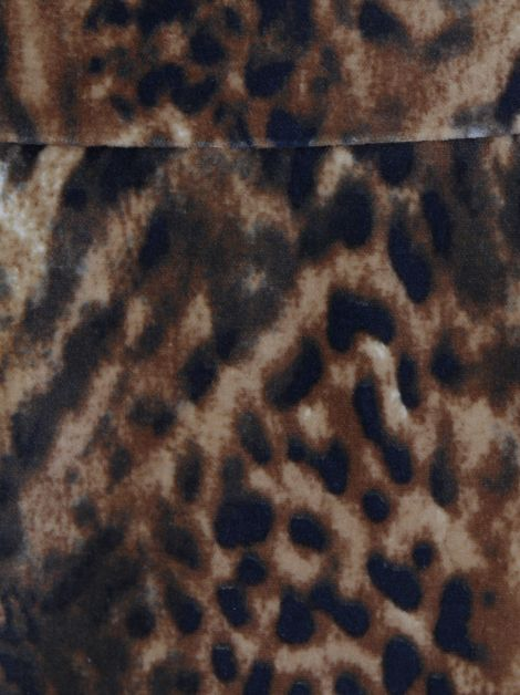 Saia Mixed Veludo Leopardo