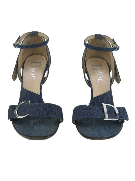 Sandália Christian Dior Denim CD