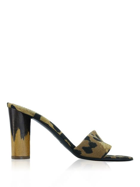 Sandália Yves Saint Laurent Tecido Animal Print