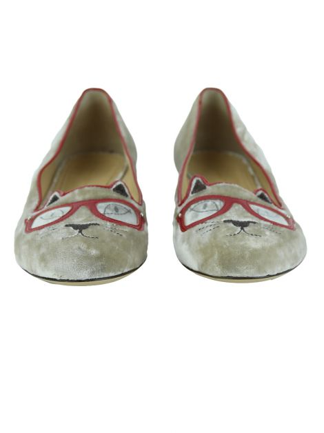 Sapatilha Charlotte Olympia Kitty Glasses