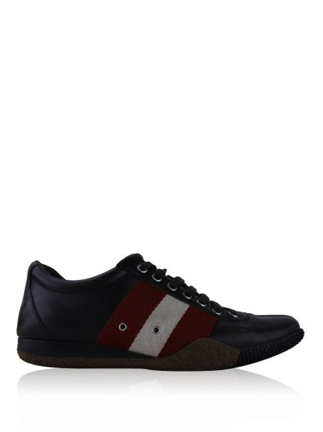 Sapato Bally Leather Low Top Marrom