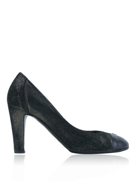 Sapato Chanel Cap-Toe Metallic