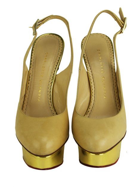 Sapato Charlotte Olympia Dolly Camelo