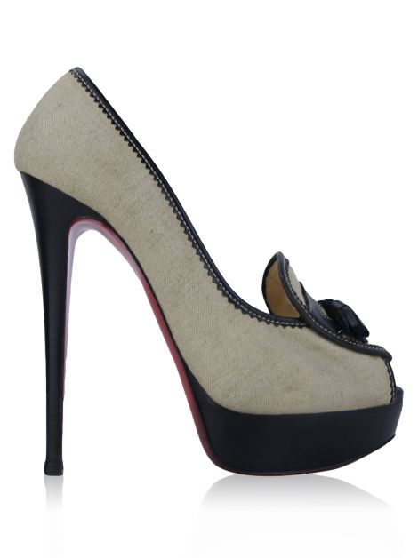 Sapato Christian Louboutin Alta Campus Natural