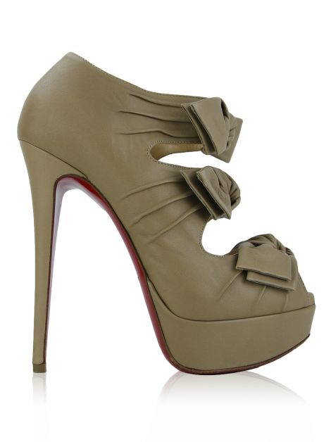 Sapato Christian Louboutin Madame Butterfly Bege