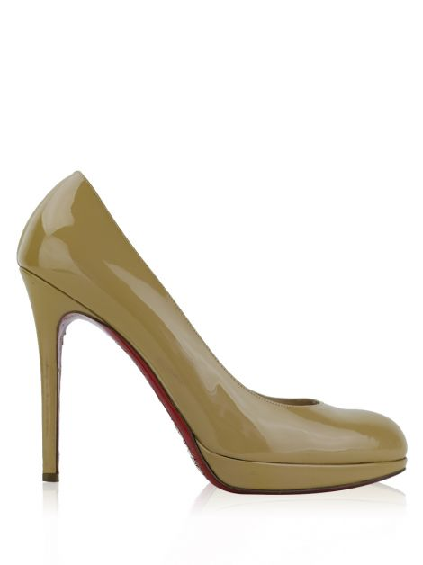 Sapato Christian Louboutin New Simple Pump 100 Bege