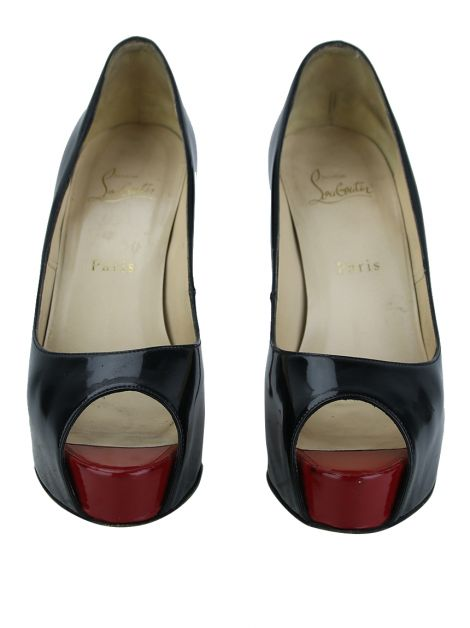 Sapato Christian Louboutin New Very Prive Verniz Preto