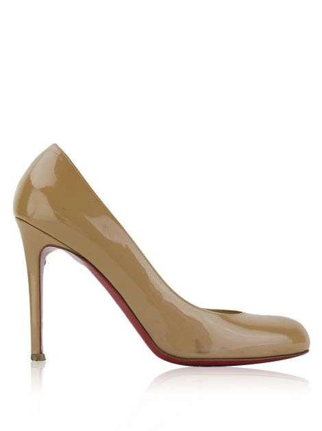 Sapato Christian Louboutin Simple Pump Verniz Nude