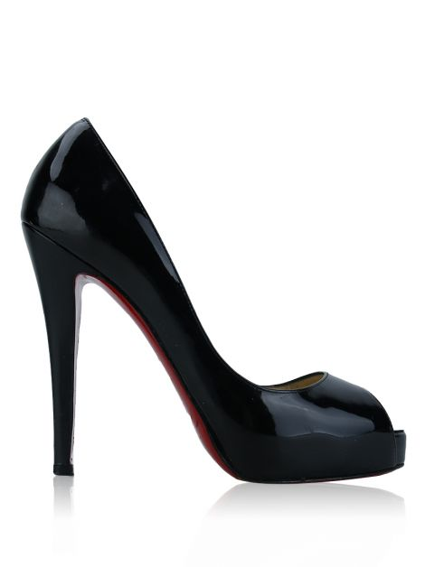 Sapato Christian Louboutin Very Prive 120 Preto