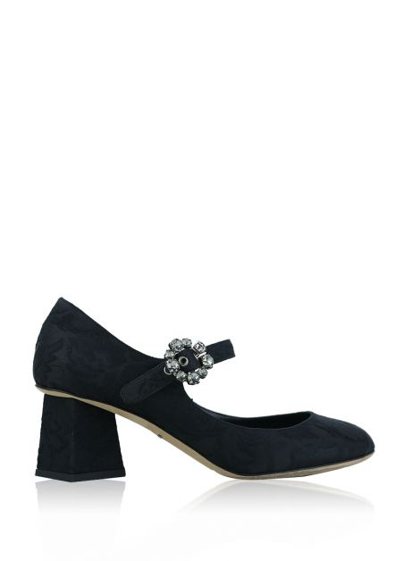 Sapato Dolce & Gabbana Mary Jane Brocado Preto
