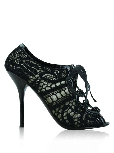 Sapato Dolce & Gabbana Renda Lace Up Preto