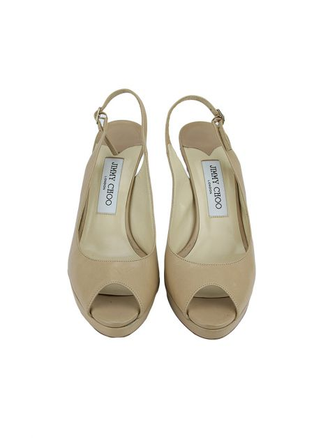 Sapato Jimmy Choo Couro Bege