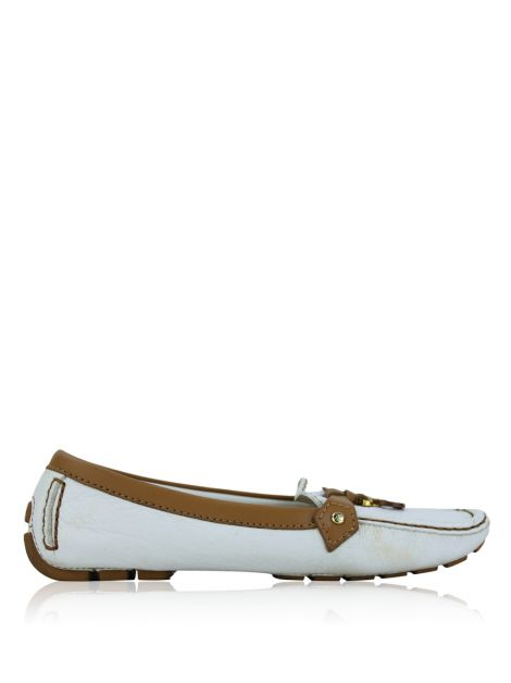 Sapato Louis Vuitton Driving Loafer Branco