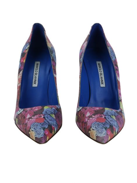 Sapato Manolo Blahnik Pointed Floral