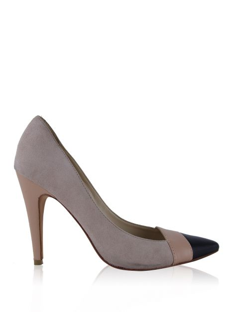 Sapato Mixed Suede Rose