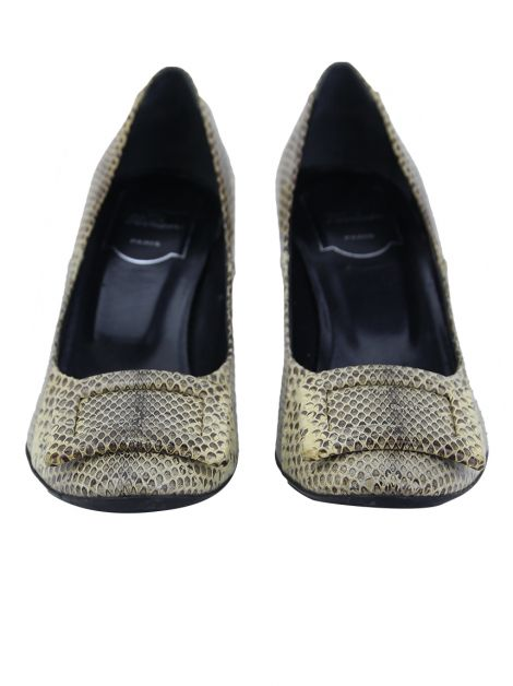 Sapato Roger Vivier Phyton Bege