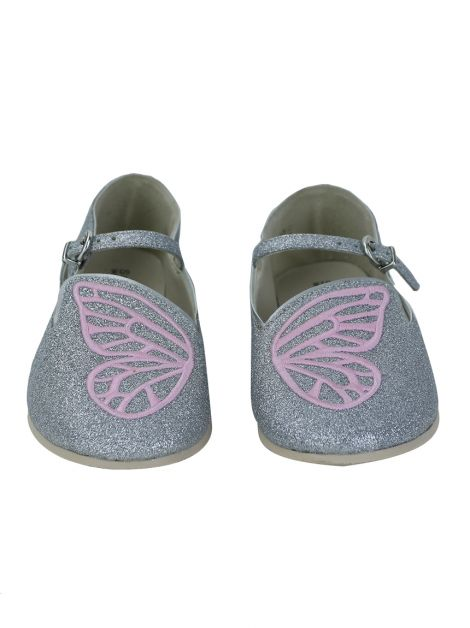 Sapato Sophia Webster Mini Bibi Butterfly Prata