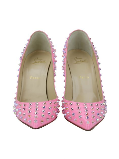 Scarpin Christian Louboutin Follies Spikes Pink