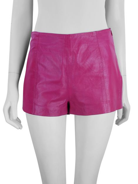 Short Talie NK Couro Rosa
