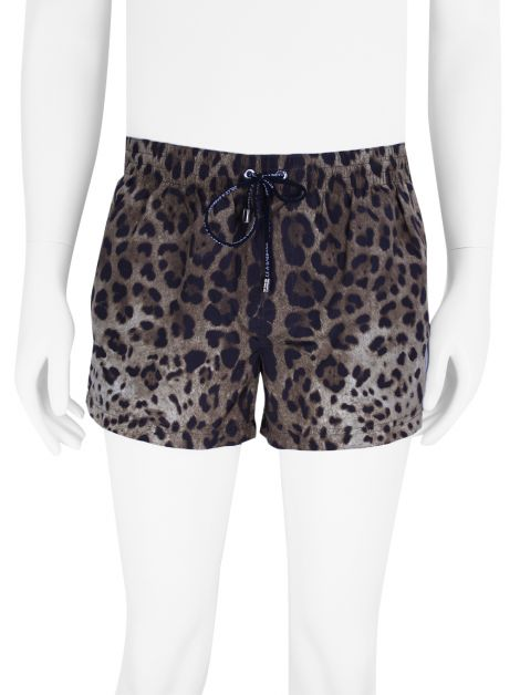 Shorts Dolce & Gabbana Beachwear Animal Print Masculino