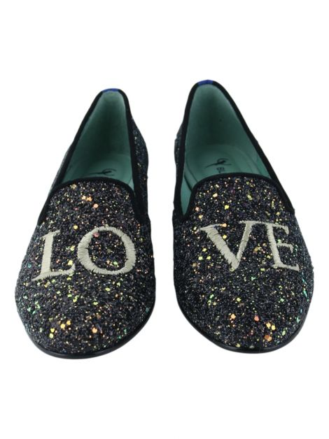 Slipper Blue Bird Love Glitter