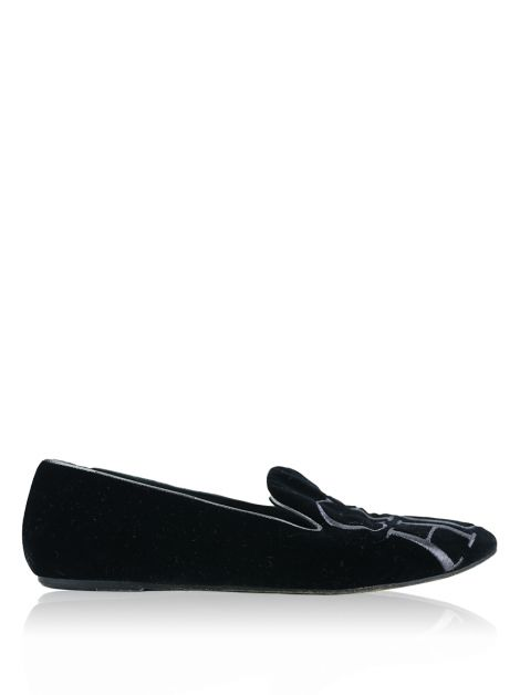 Slipper Carolina Herrera Veludo Preto