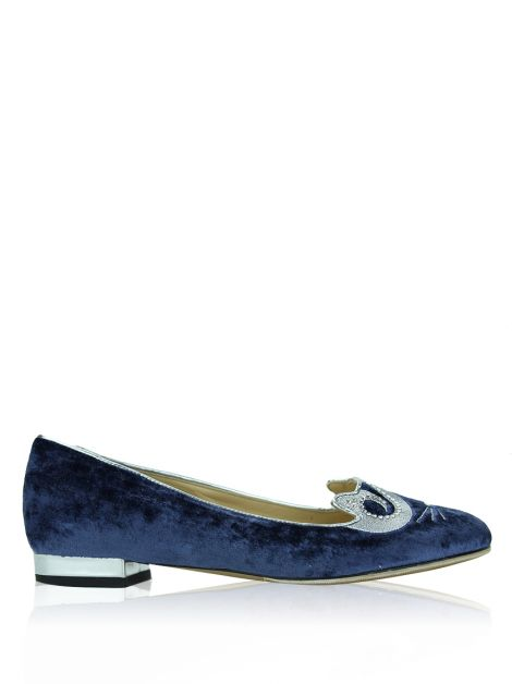 Sapatilha Charlotte Olympia Elvis The King Kitty Azul