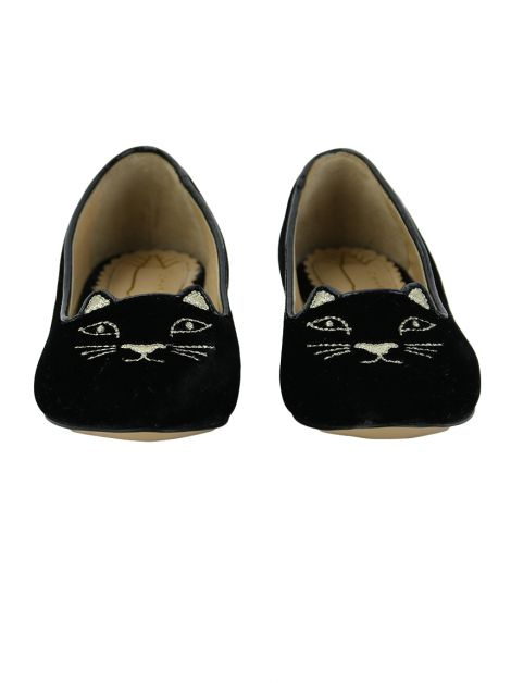Slipper Charlotte Olympia Incy Kitty Preto Toddler