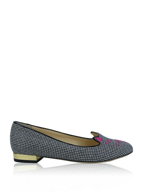 Slipper Charlotte Olympia Kitty Pied Poule