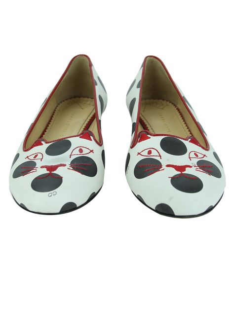 Sapatilha Charlotte Olympia Polka Dot Kitty