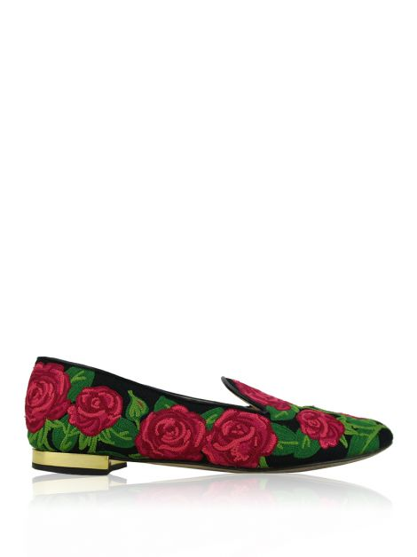 Slipper Charlotte Olympia Rose Bordado