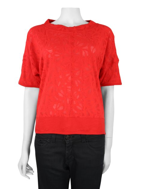 Blusa Adidas by Stella McCartney Studio Heart Vermelha
