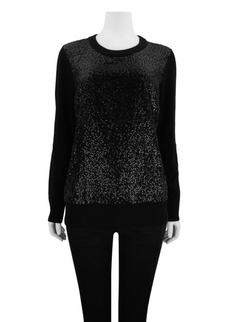 Suéter Kate Spade Fluffy Wool Sequin Preto