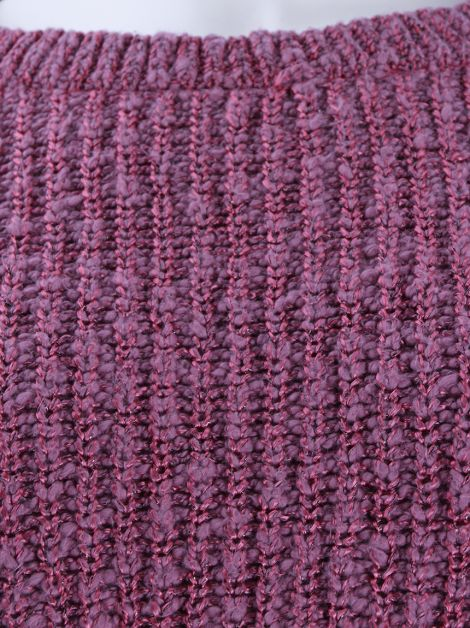 Suéter Mixed Cropped Tricot Rosa