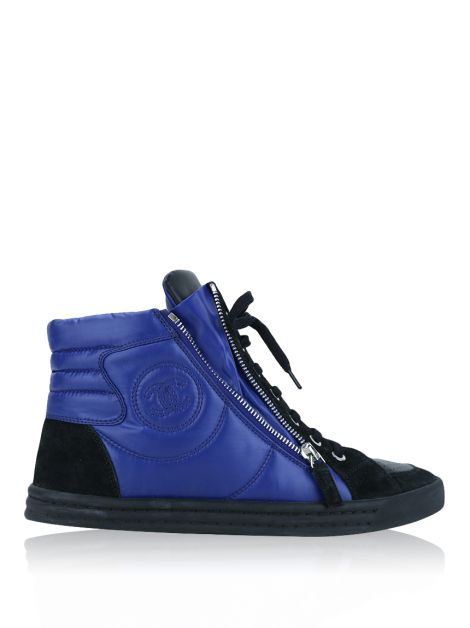 Tênis Chanel High Top Azul