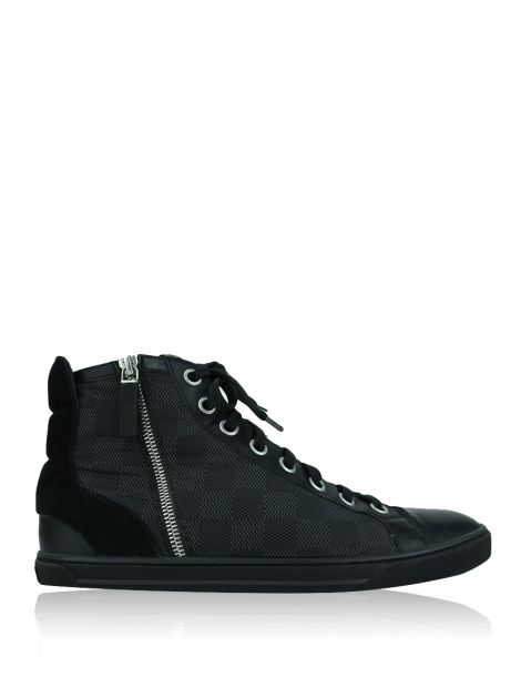 Tênis Louis Vuitton High-Top Damier Graphite